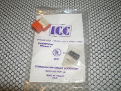 ICC lC107-8V5+ CAT 5 Connector. New. International Connectors and Cable Corp. Category 5. UL Listed 93S9. Orange. lC 1075P3 with Termination Instructions.