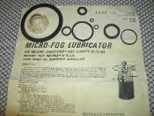 Norgren 1448-01 Repair Kit, Head Assembly. New. Micro-Fog Lubricator For Machine Lubrication. Type 10-009, Type 10-059. NIP-339. 25IC31, 8517-84668-5.