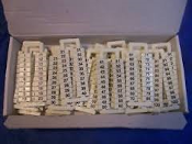 DINnectors DN-LA100 Marking Tags. New. DINnector marking tag, 5 x 12 mm, numbered 1-100 (5 of each number). Use with any DN-T12-A series terminal block. 500 pieces per package. 43310, 3010.