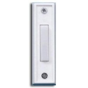 Carlon DH1408L Pushbutton Doorbell. New, Not lighted. White. Push Button Door Bell.