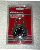 Mountain Security 202-490001 Dial Combination Lock Padlock. 039208955461. New. Case Hardened, Steel Shackle. Retail Blister Package.