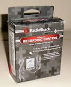Telephone Recording Control. 43-228A. New. 040293114084. recorder with remote jack. Stop/starts recording automatically. Works with any cassette recorder that has a remote jack.
