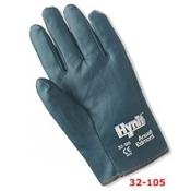 Ansell Edmont Hynit 32-105, Size 10 Gloves. Canvas Nitrile. New. Five Pair. CE 032. Liquid-repellent impregnation repels oil, grease and dirt.
