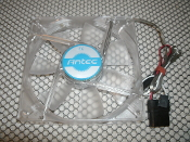 "Antec 120MM Blue LED Case Fan. 761345770958. New. 120617C. 0761345770958. 3 or 4 Pin Power Connectors. 4 3/4"" X 4 3/4""."