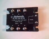 Carlo Gavazzi RS 302 240 25 24. New. 3 Phase AC-Solid State Relay. Instant On-No. 240V, 25A, Insul. 4kV. 24VDC. RS302240-25-24. 5709870014616. 822074. 128-0043-001.
