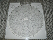 "Dickson C456 Circular Chart, 8"", 203mm Diameter, 24-Hour Rotation, 0/200 Range. Pack of 60. C-456. 24H. T40. New."