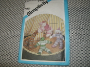 Simplicity 6483 Puff Circle Animals and Clown Patterns. New. One Size. Elephant, Giraffe, Clown and Frog. 32 Pieces.