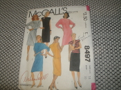 McCall's 8497 Sewing Pattern. New. Miss Size: 14. Bust: 36. Norton Simon Inc. For stretch knits only. 9 pattern pieces.
