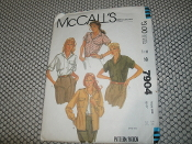 McCall's 7904 Sewing Pattern. New. Miss Size: 14. Bust: 36. Shirts Only. 13 Patterns.