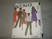 Carefree Patterns From McCall's. 6537. Miss Size. Medium. From a Norton Simon Inc. For strech knits only. 8 Patterns.