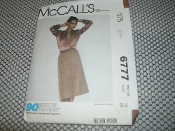 McCall's 6777 Sewing Pattern. Used. Blouse not Included. Miss Size: 14. Waist 28. 90 Minute Fashions. From a Norton Simon INC. 2 Pattern Pieces.