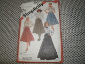 "Simplicity 5661 Sewing Pattern. New. Size N. (10-12-14) Waist: 25""-26 1/2""-28"". Blouses are not included."