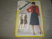 Simplicity 5486 Sewing Pattern. New. Size 12. Miss. Misses' Dress and Lined Jacket. 24 Pieces.