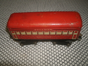 "Marx Tin Montclair Pullman Passenger Train Car. Used. 6"". Pre-War. Mar Toys."