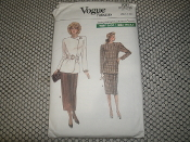 Vogue 7021 Sewing Pattern. New. Size: 12-14-16. Misses'/Misses' Petite Jacket and Skirt.