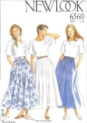 New Look 6560 Sewing Pattern. Size 8-20. New. 03936306560. Tops are not included. Bin number 50.