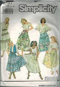 Simplicity 9737 Sewing Pattern. New. 03936310291. Size H5 6-14. EUR. H5 (34-42). Easy Essentials. 6 pieces. Misses' Skirts and petticoat.