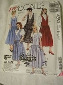 Easy McCall's 4350 Sewing Pattern. New. Size: C. 10-12-14. Cut to Fit. Tops are not included. 023795435031. Misses' Jumpers and Petticoat. 29 Patterns.