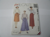 Easy McCall's 4596 Sewing Pattern. New. 023795459624. Misses' Mock Wrap Culottes and Sash. 9 Pieces. Size Small. (10-12)