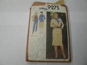 Simplicity 9275 Sewing Pattern. Used. Already Cut. Size 12. Miss. Tops are not included.