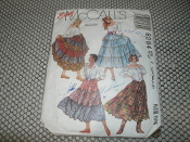 Easy McCall's 6284 Sewing Pattern. Used. 023795628419. Misses' Skirts. Patterns are cut. Size: Y. (XSM, SML, MED). 15 Patterns.