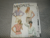 McCall's 7392 Sewing Pattern. New. Miss Size: 14. Bust: 36. 16 Patterns. Misses' Blouse. From a Norton Simon INC Company.