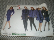 Vogue 2346 Sewing Pattern. New. 5 Easy Pieces. Size: 8-10-12.