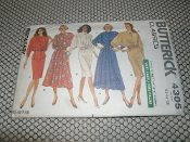 Butterick Classics 4305 Sewing Pattern. New. Size: (12-14-16). Misses' Top and Skirt.