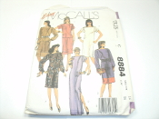 Easy McCall's 8884 Sewing Pattern. New. Miss Size: 14. Bust: 36. 02379500325. 18 Pattern Pieces.