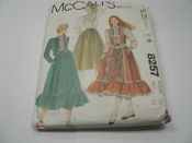 McCall's 8257 Sewing Pattern. New. Miss Size 12. Bust: 34. Misses' Vest or Jacket, Skirt and Blouse. 19 Pattern Pieces.