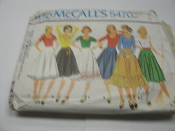 McCall's 5470 Sewing Pattern. Carefree Patterns. Miss Size 12, Bust 34. 12 Patterns Pieces. Misses' T-Shirt and Skirt. T-Shirt for Stretch Knits Only.
