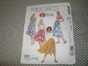 McCall's M4875 Sewing Pattern. New. 023795487511. 2 Hour Skirt. Size: AA. (6-8-12-12). 48751. 3 pieces.