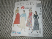 McCall's 4258 Sewing Pattern. New. 023795425827. Size: VBB. (8-10-12-14). 2 Hour Bias Skirts. 7 Pieces. Misses'/Miss Petite Bias Skirts.