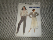 Vogue Sewing Patterns. 7027. Size: (12-14-16). New. Missy, Jacket, Skirt and Pants.