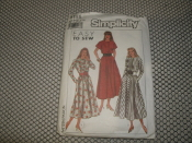 Simplicity 9198 Sewing Pattern. New. 03936309134. New. Size: H5. (6-14). Easy to sew. 8 Pieces. Misses'/Miss Petite dress.