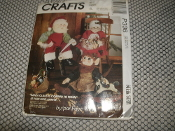 "McCall's Crafts P336. Sewing Pattern. 023795033619. New. Santa, Mrs. Claus or Elf Doll and Clothes. Each Doll is 26"" High."