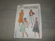 Simplicity 7425 Sewing Pattern. New. Size: 14. Misses' Semi-Fitted Bias Sundress and Unlined Jacket...Adjustable for Miss petite-13. 039363196488