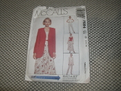 McCall's 7994 Sewing Pattern. Size: B. New. (8-12-12). 023795799416. Misses' Jacket, Vest, Pull-on, Pants and Pull-on Skirt.