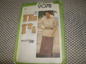 Simplicity 9078 Sewing Pattern. Size: 12. Miss. New. SuperJiffy. 3 Pieses. Misses' SuperJiffy Pollover Dress or Tunic and Skirt.
