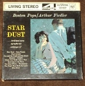 Star Dust FTC-2137 Boston Pops Orchestra. Used. RCA Victor 4 Track Tape. Arthur Fielder. Living Stereo. 7 1/2 I.P.S.