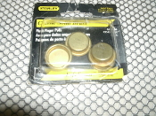 "Stanley 40-3506 Brass Flush Finger Pulls. New. Four Per Package. Retail Package. 033923090117. 3/4""."