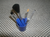 Abella Beauty Care Kit. UYRTEM. New. Four Makeup Brushes and a Eye Lash/Brow Comb.