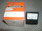 Simpson Gauge. New. 0 to 1 A.C. Amperes. R.M.S.