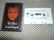Phil Collins. No Jacket Required. A4-81240. Cassette. Used. Atlantic Records. Columbia House. 81240-4-E. 1985.