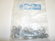 "Fastenal 1133622, 3/8"" Zinc Finish Medium Split Lock Washers. 120126204. 50 Count. New."