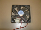 HSP HSP12025MS Case Fan With Two Connectors. DC 12V 0.20A. Huishipu Science. Refurbished. Pulled from a working server.