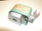 "Asco HV2206491 Drain Solenoid Valve With Coil. Hot Water Steam 15PSI 120VAC. Used. 1/2"" Pipe. Watts: 15.4."