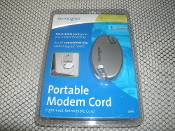 Kensington Modem Cord. Up to 8 Foot. New in retail package. Model No: 33050 UPC: 085896330509