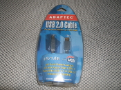 Adaptec USB 2.0 Cable. 6 Foot Long. UPC: 760884141410 Model: 2028400
