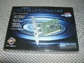 PCI card, 2.0 USB. UPC: 788875620164 Model: USB640A.